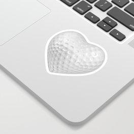 Golf ball heart / 3D render of heart shaped golf ball Sticker