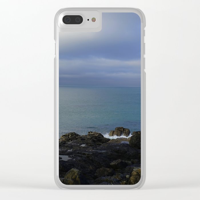 The Atlantic Ocean and Clouds in the Sky Clear iPhone Case