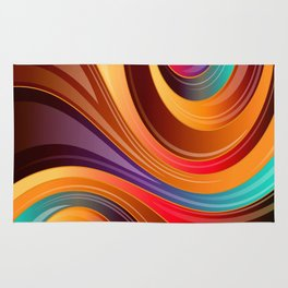 Abstract Colorful Swirls Rug