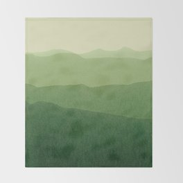 gradient landscape green Throw Blanket