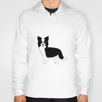 border collie Hoodies featuring Border Collie  by Heroinax