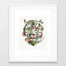Tropical tiger Framed Art Print