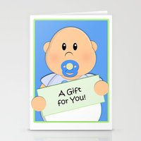 gift card Stationery Cards featuring A Gift for You by Fat Baby Expressions