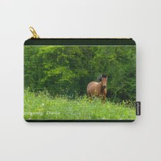 Horse in a pature Carry-All Pouch