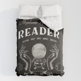 Gypsy Crystal Ball Reader Sign Comforters