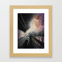 No flash photography during invasion Framed Art Print