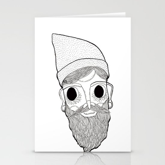 Beard Man Stationery Cards