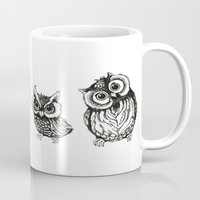 owls Mugs featuring OWLS by Acus