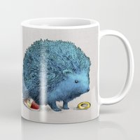 sonic Mugs featuring Sonic (color option) by Eric Fan