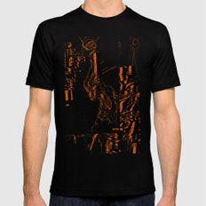 Illustration Mashup Mens Fitted Tee Black MEDIUM