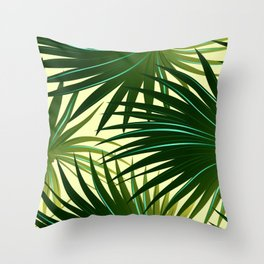 Cabbage palm leaf Throw Pillow