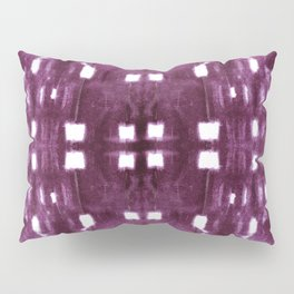 Shibori City Plum Wine Pillow Sham