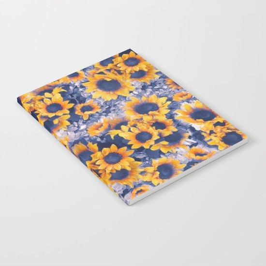 Sunflowers Blue Notebook