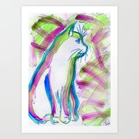 Cat of Color Art Print