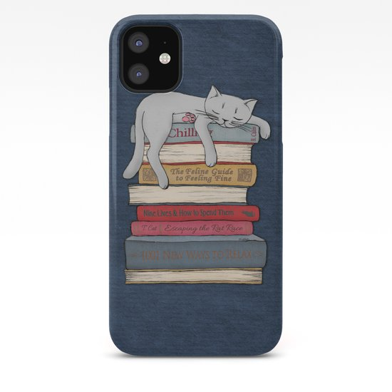 How to Chill Like a Cat iphone 11 case