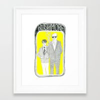 rushmore Framed Art Prints featuring Rushmore by Vannia Palacio