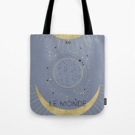 The World or Le Monde Tarot Tote Bag