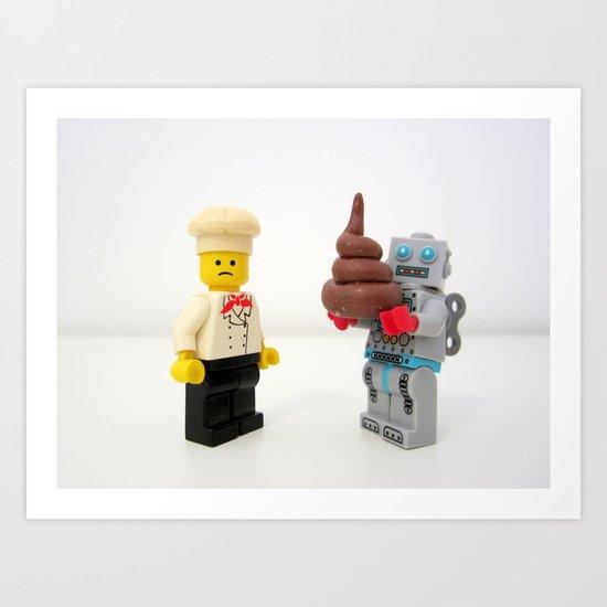 Lego cook & robot misunderstanding Art Print
