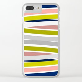 Colorful Strips Clear iPhone Case