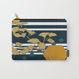Gingko and hexagons Carry-All Pouch