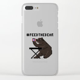 Feed The Bear Clear iPhone Case