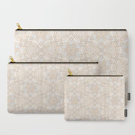 Golden Geo Stars Carry-All Pouch