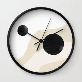 Linen Desert Wall Clock