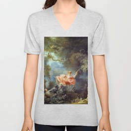 Jean-Honoré Fragonard - The Swing Unisex V-Neck