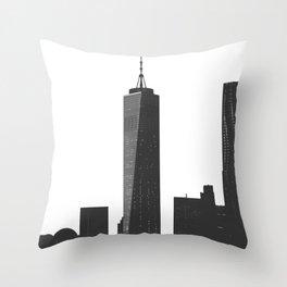 One World Trade Center-New York City Skyline Throw Pillow