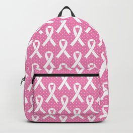 Breast Cancer Awareness Ribbons - Pink & White Backpack