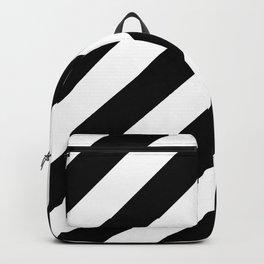 Diagonal Stripes Black & White Backpack