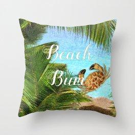 Beach Bum Summer Fun Throw Pillow