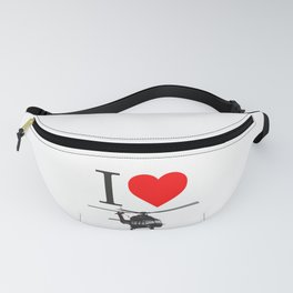 I Love Helicopters Fanny Pack