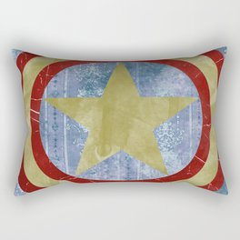 Vintage Capt America Rectangular Pillow
