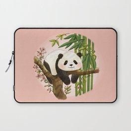 Panda under sunlight - Pink Laptop Sleeve