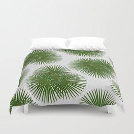 Fan Palm, Tropical Decor Duvet Cover