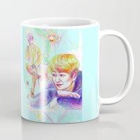 shinee Mugs featuring SHINee Onew by sophillustration