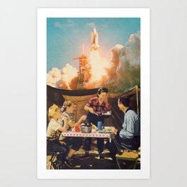 Peaceful Lunch Art Print