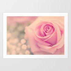 Vintage roses flowers floral - Pink rose flower bunch #Society6 Art Print
