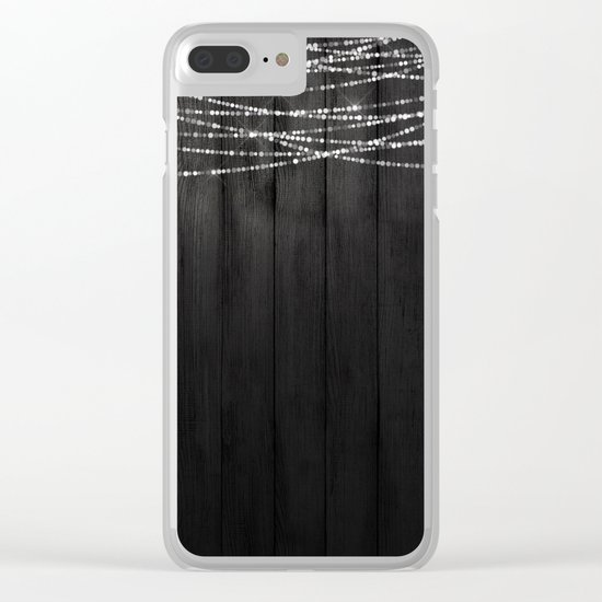 Fairy Lights on Wood 01 Clear iPhone Case