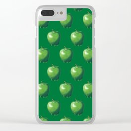 Green Apple_B Clear iPhone Case