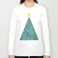 christmas tree Long Sleeve T-shirts featuring Christmas tree by Bridget Davidson