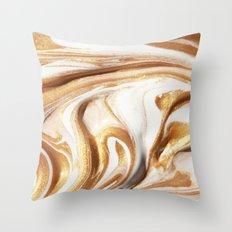 MARBLE CREAM Throw Pillow