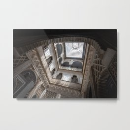 Courtyard of the Dolls in the Royal Alcázar Palace in Seville, Spain Metal Print