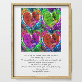 Romantic Art - Completely Yours - By Sharon Cummings Serving Tray