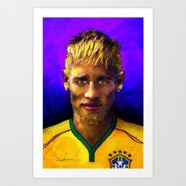 Neymar Jr. Art Print
