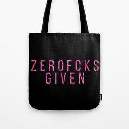 ZEROFCKS Given Tote Bag