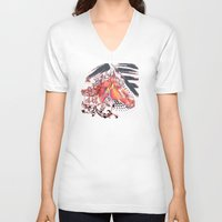 carousel V-neck T-shirts featuring Carousel by bellevuetriangle