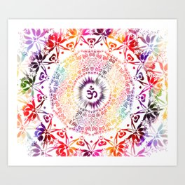 Radiant Om Mandala Art Print