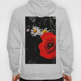 Summer flowers POPPIES, DAIRIES, CORNFLOWERS #1 Hoody